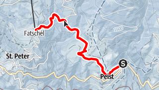 Karte / Peist – Sotfanas – Fatschél