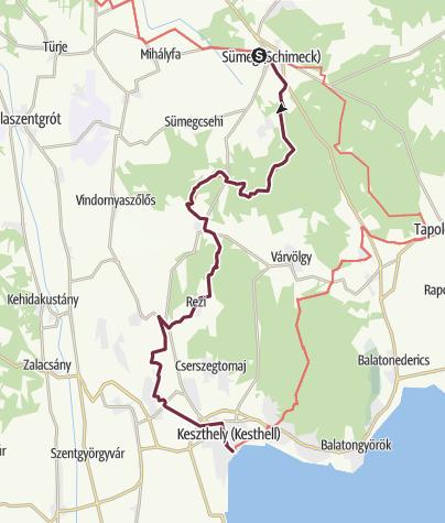Térkép / Sümeg - Keszthely (OKT-03.)
