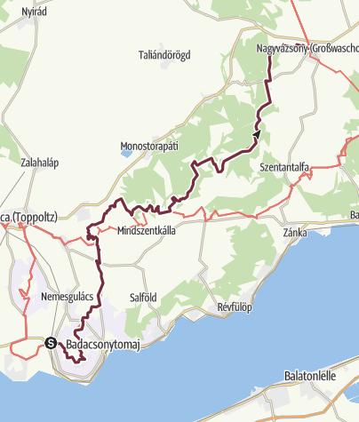 Térkép / Badacsonytördemic - Nagyvázsony (OKT-06.)