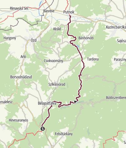 Térkép / Szarvaskő - Putnok (OKT-23.)