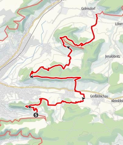 Karte / SaaleHorizontale Etappe 2 - Von Ziegenhain nach Beutnitz