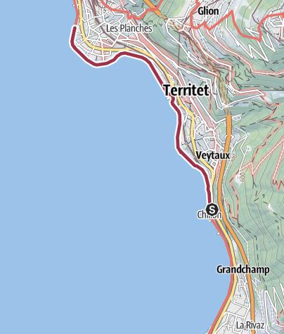 Karte / LEY-HDW-Villeneuve - Montreux