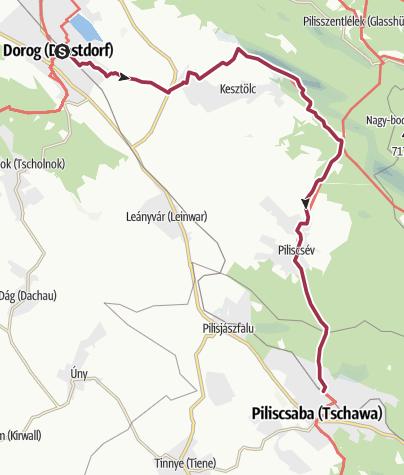 Map / Dorog - Piliscsaba (OKT-12)