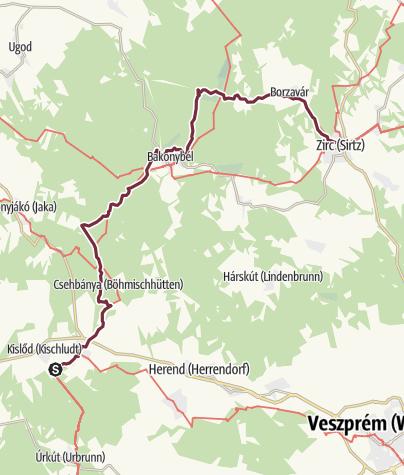Map / Városlőd - Zirc (OKT-08)