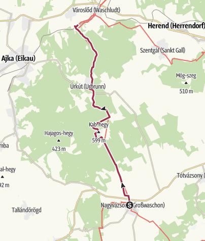 Mapa / Nagyvázsony - Városlőd (OKT-07.)