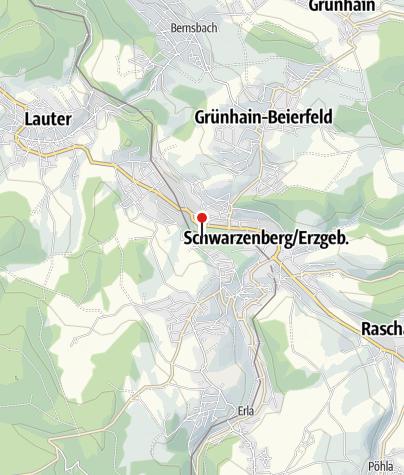 Karte / Erzgebirgische Aussichtsbahn: Eisenbahn trifft Wanderwoche