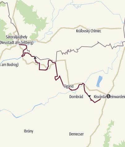 Térkép / Alföldi Kéktúra 10. szakasz: Kisvárda - Sátoraljaújhely (AK-10.)