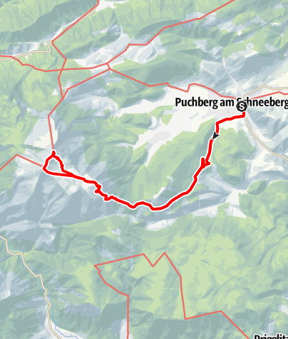 Karte / Vollmond- und Sonnenaufgangswanderung