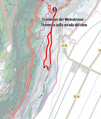 Kaart / Spazierweg nach Rungg und St. Valentin