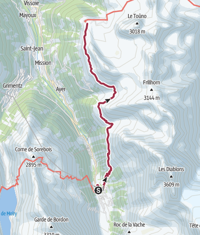 Map / Zinal to Hotel Weisshorn