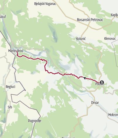 Map / Etno selo Dodig - Martin Brod