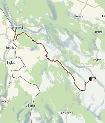 Map / Drvar - Boboljusci - Martin Brod