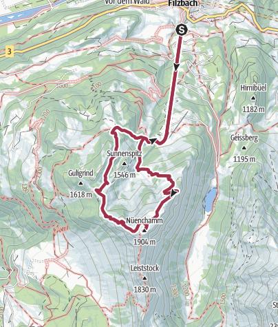 Karte / Nüenchamm, 1904 m