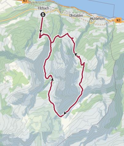 Karte / Rund um den Mürtschenstock