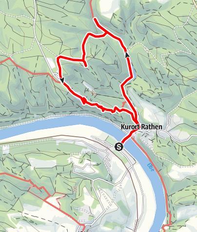 Karte / Basteiaussicht