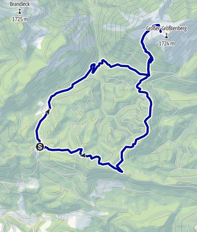 Karte / Großer Größtenberg, Rundwanderung