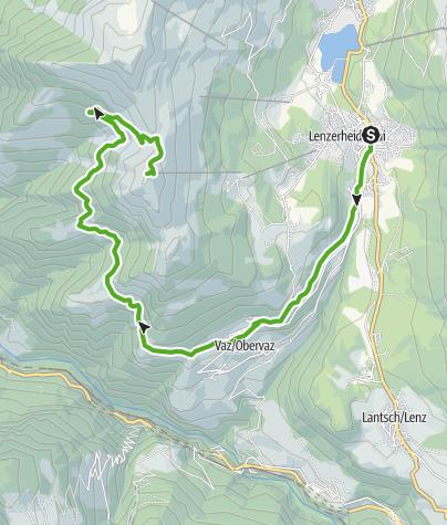 Karte / GPS Lenzerheide - Vaz