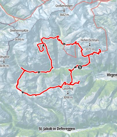Kaart / Rondom het Virgental 50-plus