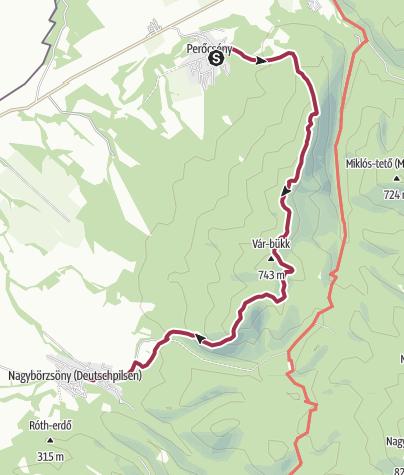 Karte / A Börzsöny kráterperemén