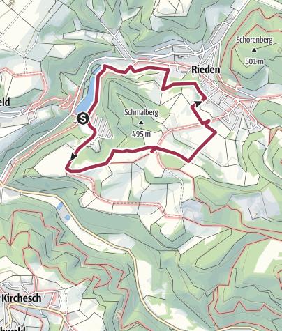 Karte / Traumpfädchen Riedener Seeblick