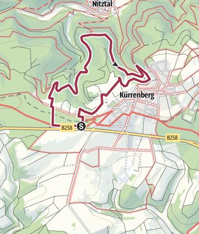 Karte / Traumpfädchen Eifeltraum