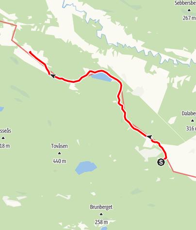 Karta / Stråsjöleden, Mockastorp till Stråsjö kapell
