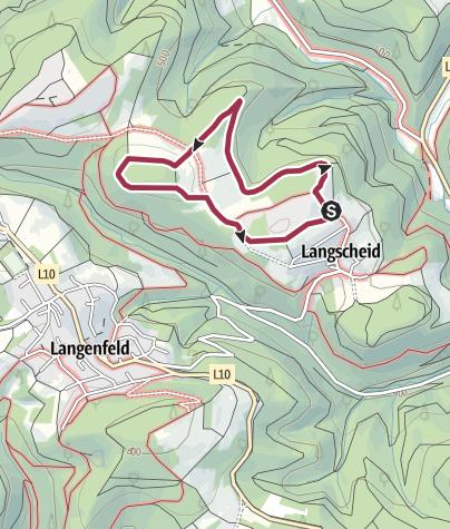 Kaart / Traumpfädchen Langscheider Wacholderblick
