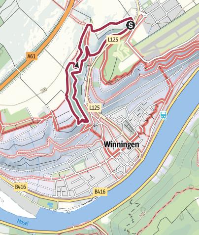 Karte / Traumpfädchen Moseltraum