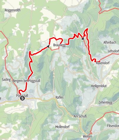 Mapa / Ysper-Weitental Rundwanderweg Etappe 6