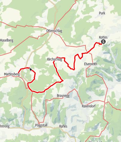Karte / Kremstalweg Etappe 1