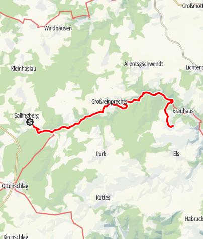 Mapa / Kremstalweg Etappe 4
