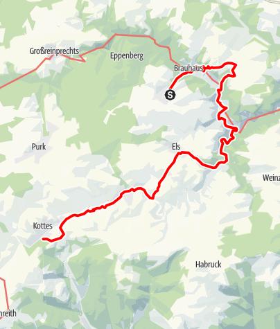 Mapa / Kremstalweg Etappe 5