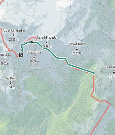 Map / Alta Via nr. 2 - Pale di San Martino (stage 4)