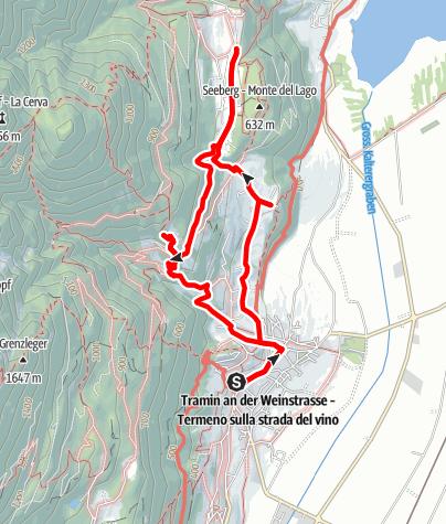 Kaart / Söll-Altenburg-Gummererhof-Tramin