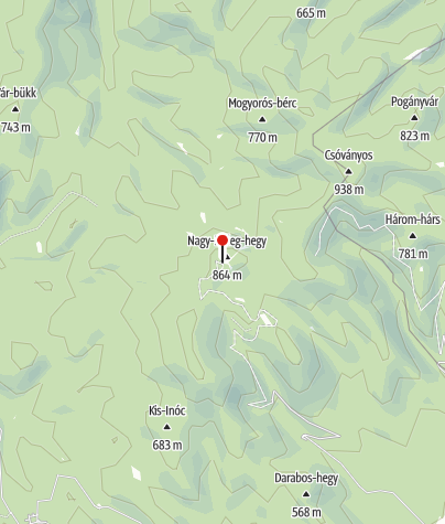 Térkép / Nagy-Hideg-hegyi Sí- és Túraközpont
