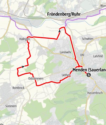 Karte / Feldertour Menden