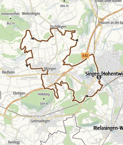 Karte / Vulkan - Genuss Hegau - Auf den Spuren der Weltmeister! 30km