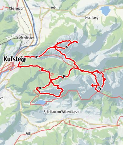 Kaart / Wilder Kaiser