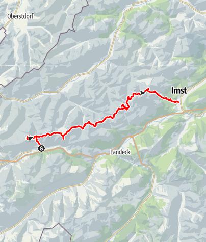 Kaart / Adlerweg E4 Alpin