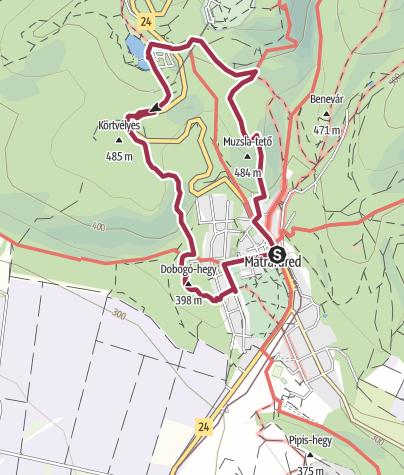 Térkép / Kilátótól - kilátóig