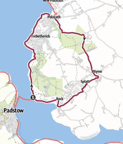Map / Padstow Loop Walk Around Rock