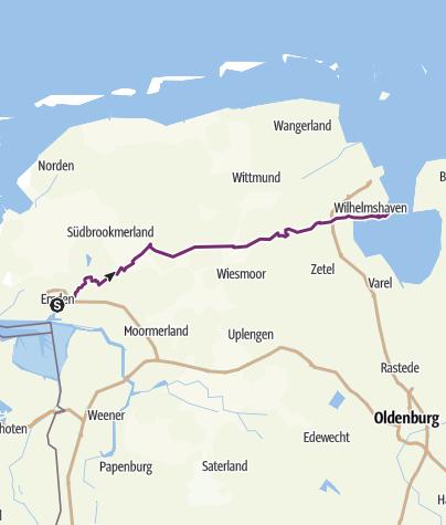 Map / Ems-Jade-Kanal Radweg