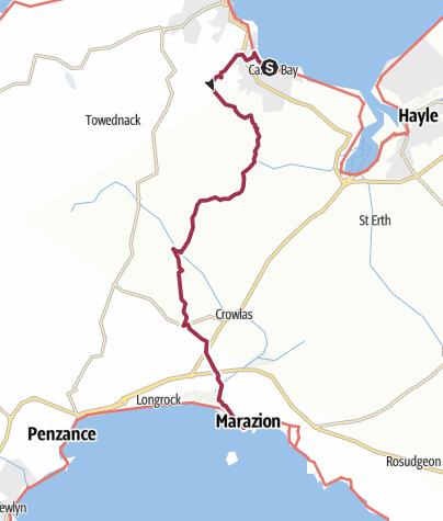 Map / Carbis Bay to Marazion via St Michael's Way