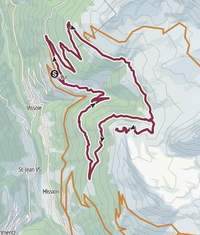 Karte / Val d'Anniviers Bike Planet Tour
