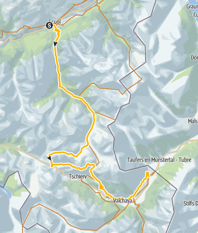 Map / 444.02: Nationalpark Bike-Tour: Scuol - Val Müstair