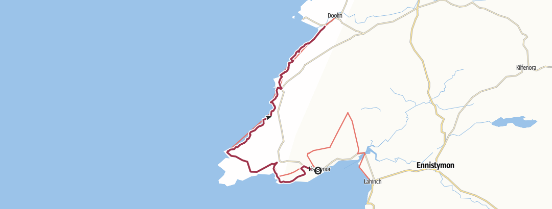 Map / Liscannor to Doolin