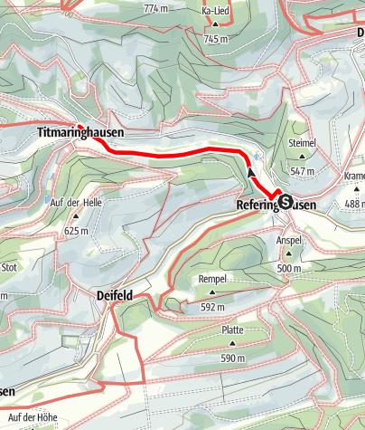 Karte / Medebacher Bergweg - Etappe 7: Referinghausen - Titmaringhausen