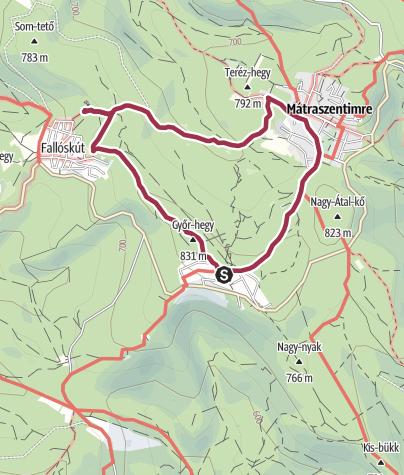 Térkép / Felső-mátrai körtúra