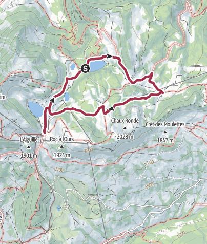 Map / LEY-HDW-Alpenweide aan Lac de Chavonnes