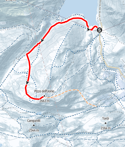 Karte / Frühlingstour auf dem Lukmanierpass